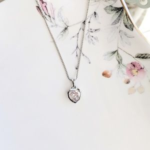 Jewelry - Sterling silver plated heart pendant
